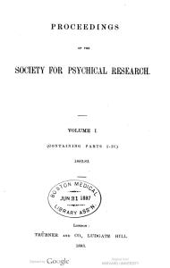 PSPR 1882-83 Vol 1