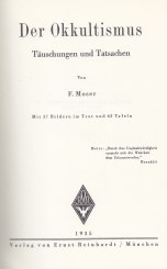 Moser Okkultismus